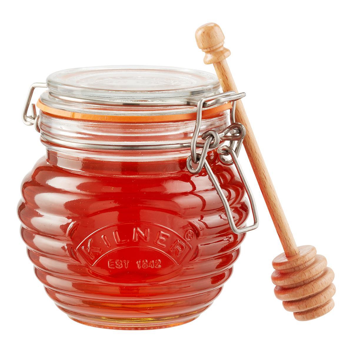 KILNER | dávkovač medu, dřevěná lžička, objem 0,35 litru