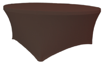 Maxchief Potah na stoly Planet - Verlo čokoláda, kulatý, průměr 120 cm Ubrus na stůl Maxchief,