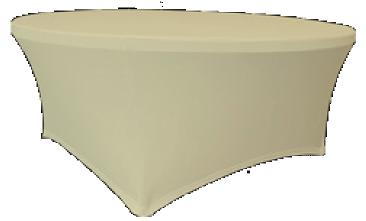 Maxchief Potah na stoly Planet - Verlo, barva Ecru, kulatý, průměr 120 cm Ubrus na stůl Maxchief