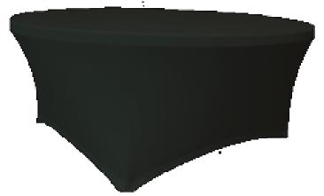 Maxchief Potah na stoly Planet - Verlo černý, kulatý, průměr 120 cm Ubrus na stůl Maxchief, č