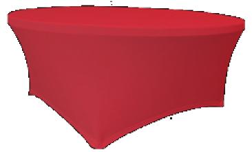 Maxchief Potah na stoly Planet - Verlo červený, kulatý, průměr 120 cm Ubrus na stůl Maxchief,