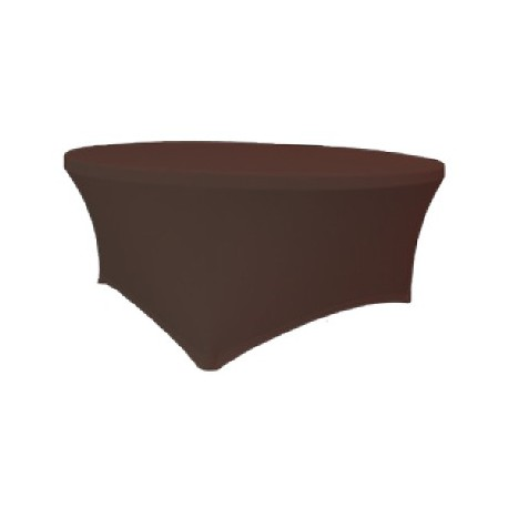 Maxchief Potah na stoly Planet - Verlo čokoláda, kulatý, průměr 180 cm Ubrus na stůl Maxchief,