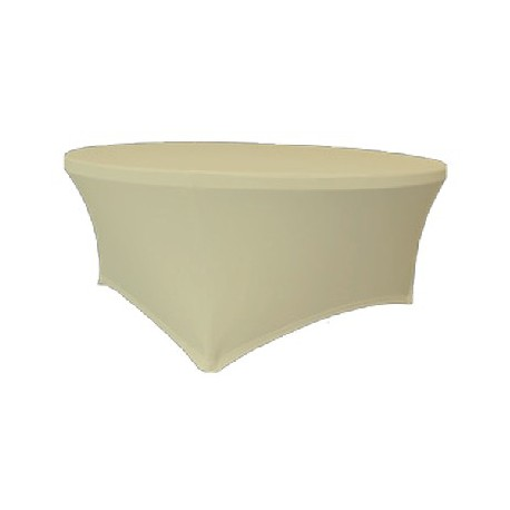 Maxchief Potah na stoly Planet - Verlo ecru, kulatý, průměr 180 cm Ubrus na stůl Maxchief, ecru,