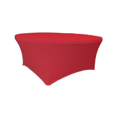 Maxchief Potah na stoly Planet - Verlo červený, kulatý, průměr 180 cm Ubrus na stůl Maxchief,