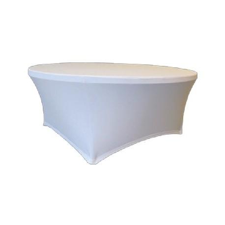 Maxchief Potah na stoly Planet - Verlo bílý, kulatý, průměr 180 cm Ubrus na stůl Maxchief, bí