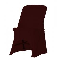 Maxchief Potah na židli Norman čokoláda