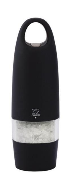 Peugeot Mlýnek ZEST elektrický na sůl 18 cm, černý Mlýnek elektrický Peugeot
