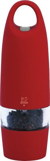 Peugeot Mlýnek ZEST elektrický na pepř 18 cm, červený Mlýnek elektrický Peugeot