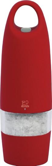 Peugeot Mlýnek ZEST elektrický na sůl 18 cm, červený Mlýnek elektrický Peugeot
