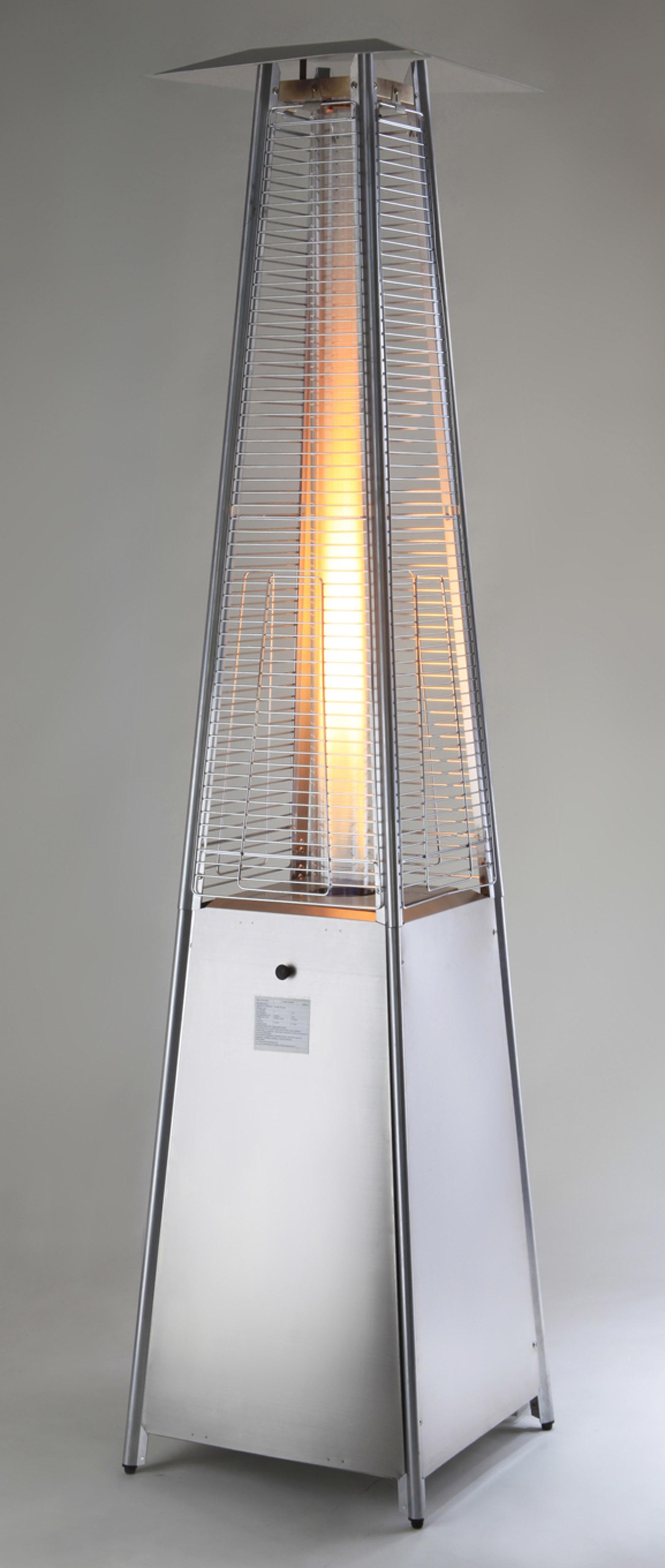 MEVA | Terasový ohřívač pyramida TZ 02003 - nerez