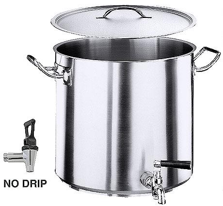 Contacto nerez hrnec s výpustným ventilem, objem 70 litrů Contacto hrnec, series 2100, objem 70 l