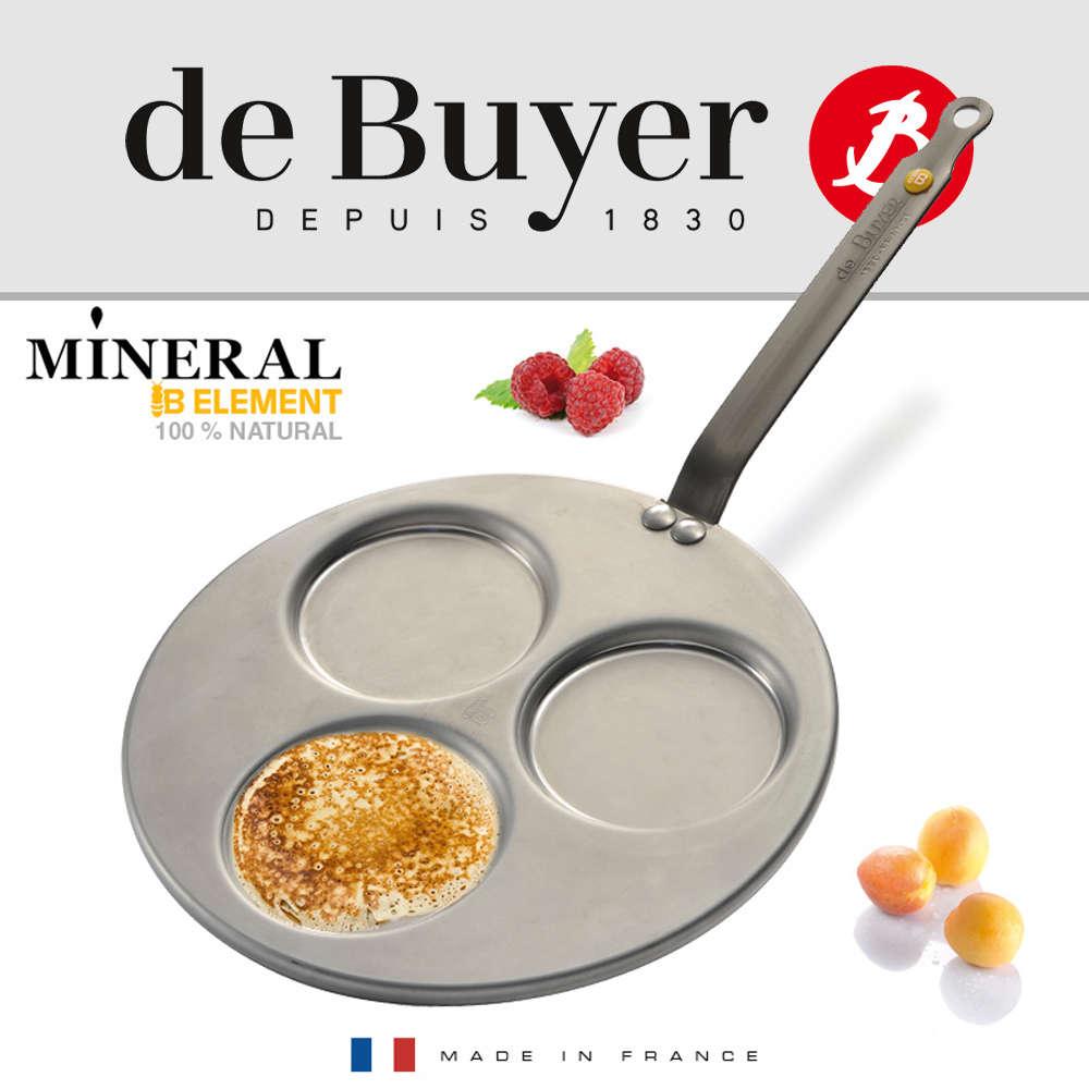 De Buyer | ocelová pánev, lívanečník Mineral B Element, pr. 27cm