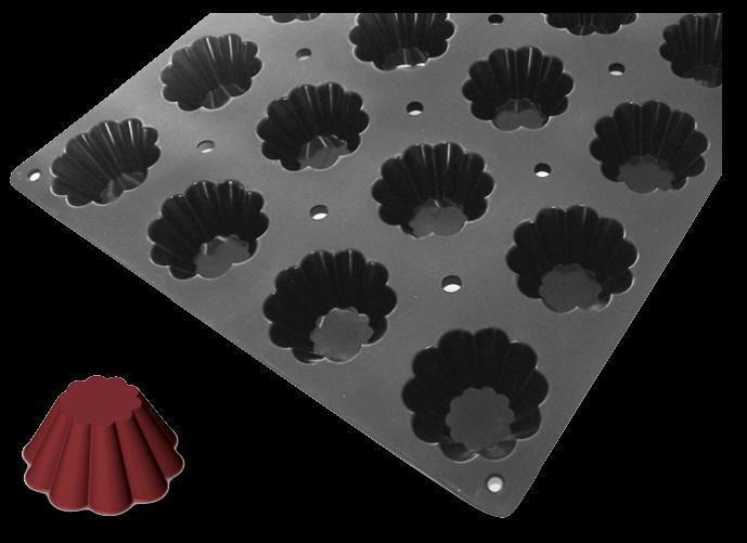 DE BUYER | Silikonová forma - mini bábovka Mini bábovka silikonová forma - de Buyer