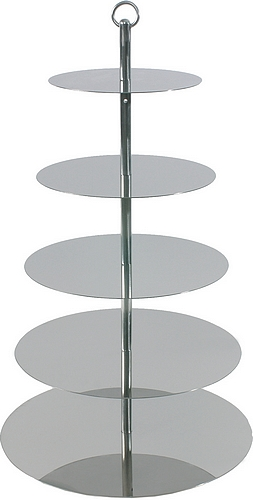 Etažér nerez - výška 67 cm