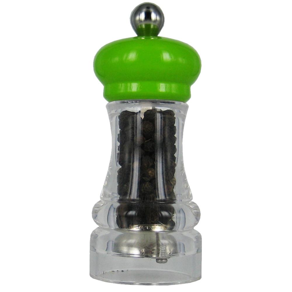MARLUX | HIP HOP mlýnek na pepř, transparentní zelený, 11cm