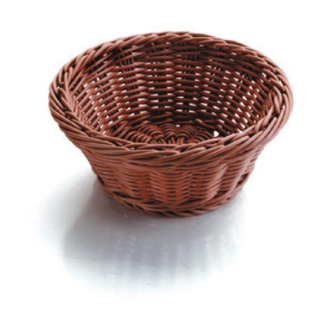 Košík na pečivo polypropylen - kulatý, tmavý