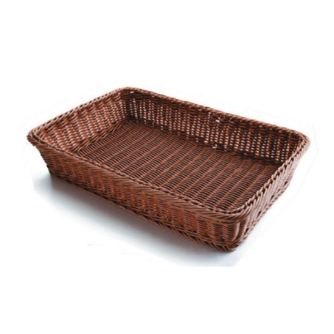 Košík na pečivo polypropylen - obdélný, tmavý