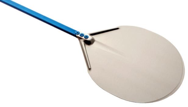 TOMGAST | Lopata na pizzu hliníková prům. 33 cm, dl. 180 cm