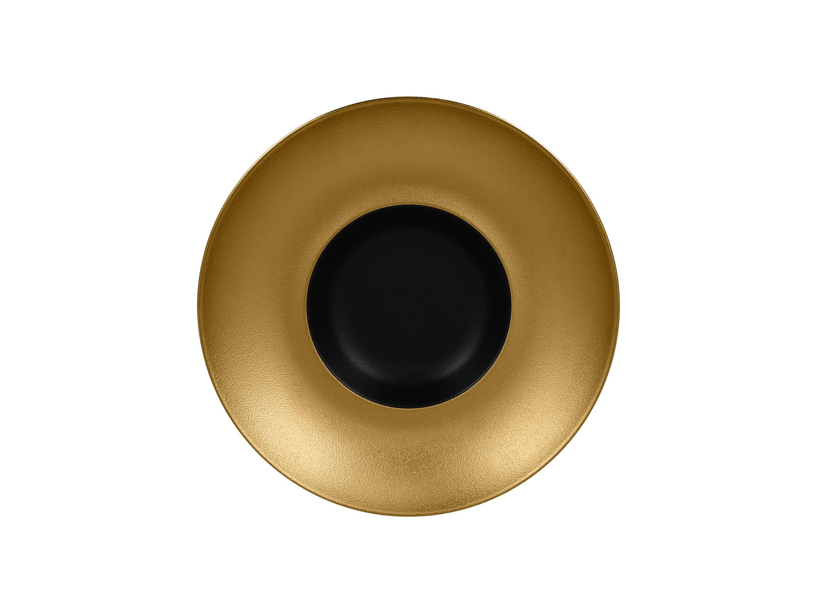 RAK | Metalfusion talíř hluboký Gourmet pr. 26 cm, černo-zlatý