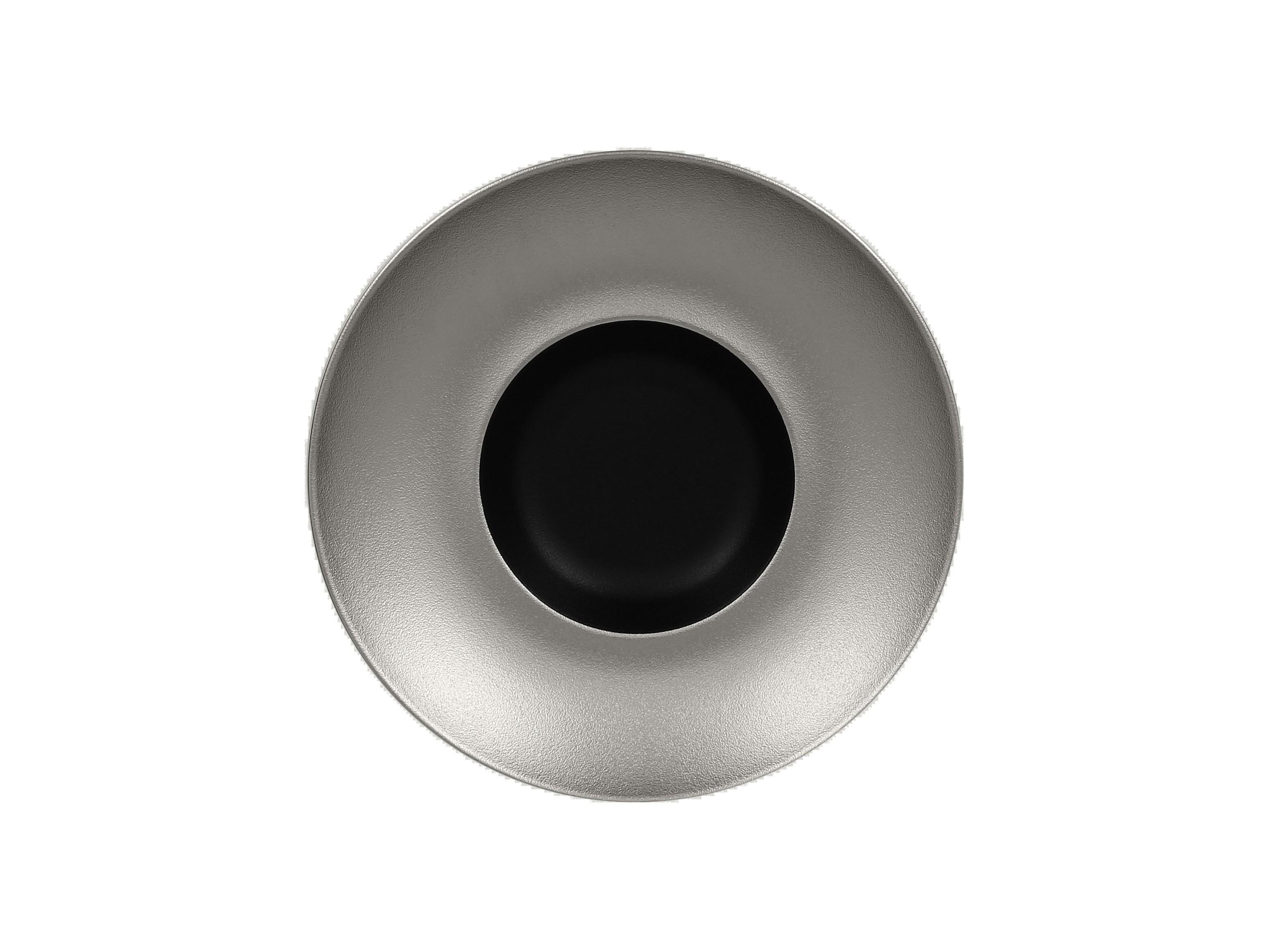 RAK | Metalfusion talíř hluboký Gourmet pr. 26 cm, černo-stříbrný