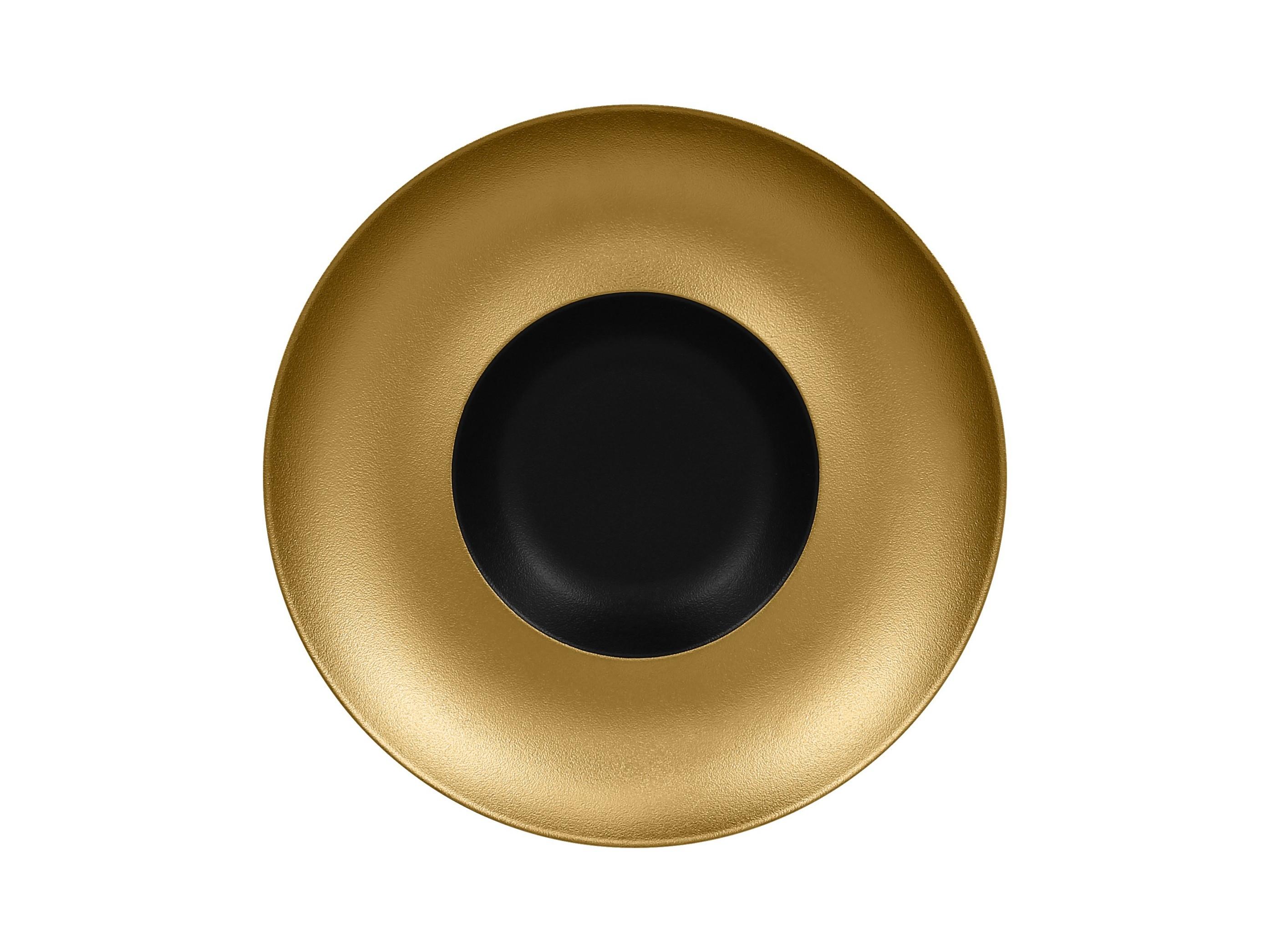 RAK | Metalfusion talíř hluboký Gourmet pr. 29 cm, černo-zlatý
