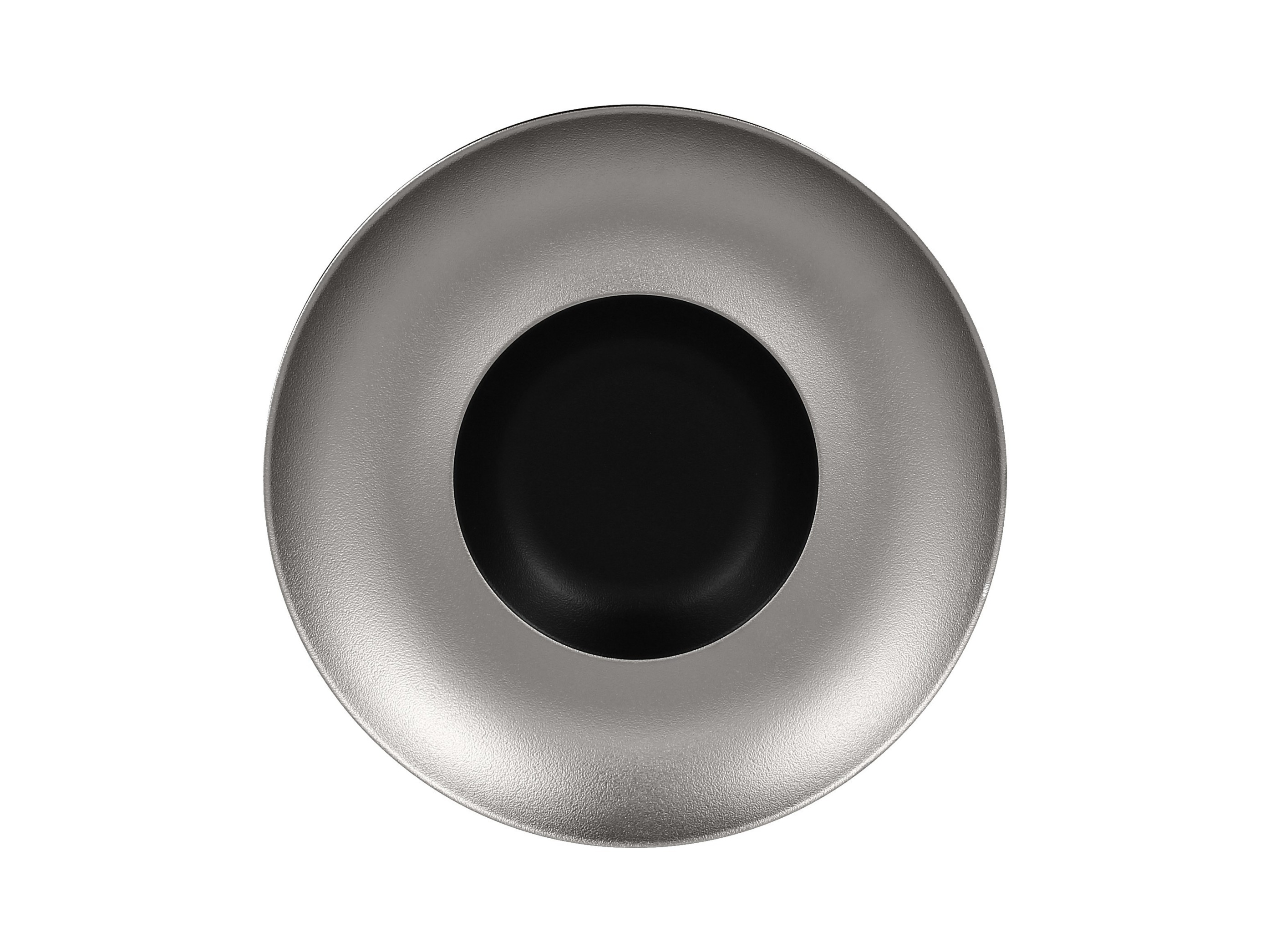 RAK | Metalfusion talíř hluboký Gourmet pr. 29 cm, černo-stříbrný