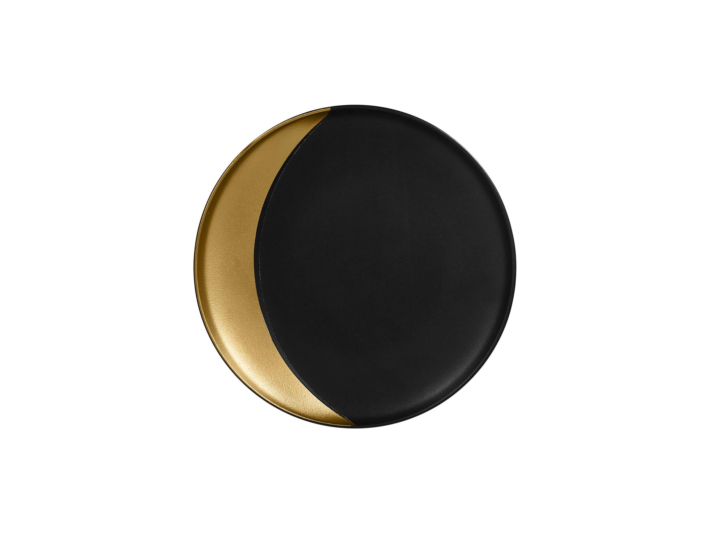 RAK | Metalfusion talíř hluboký pr. 24 cm, černo-zlatý