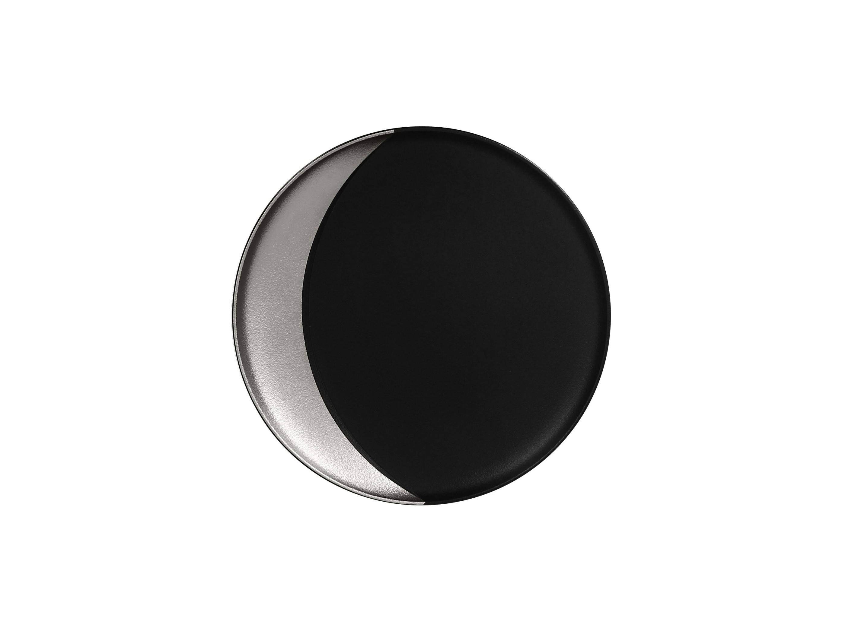 RAK | Metalfusion talíř hluboký pr. 24 cm, černo-stříbrný