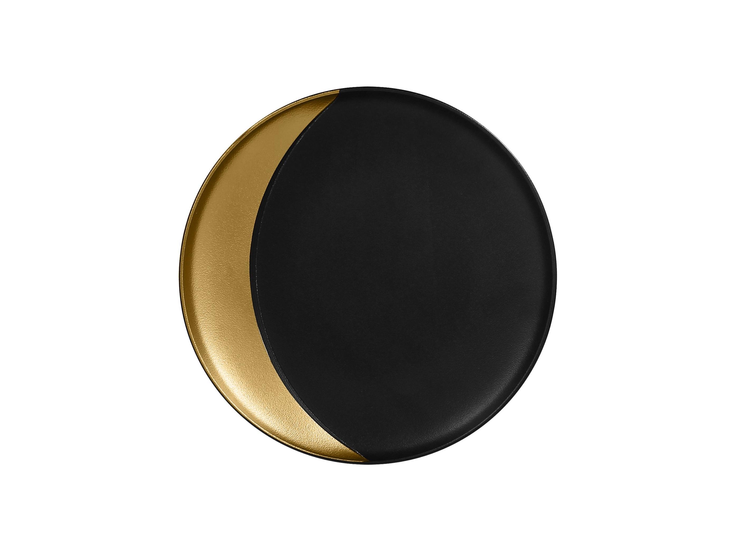 Metalfusion talíř hluboký pr. 27 cm, černo-zlatý